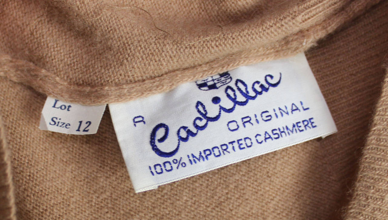 1950s Fine Cashmere and Satin Cadillac Sweater For Sale 1