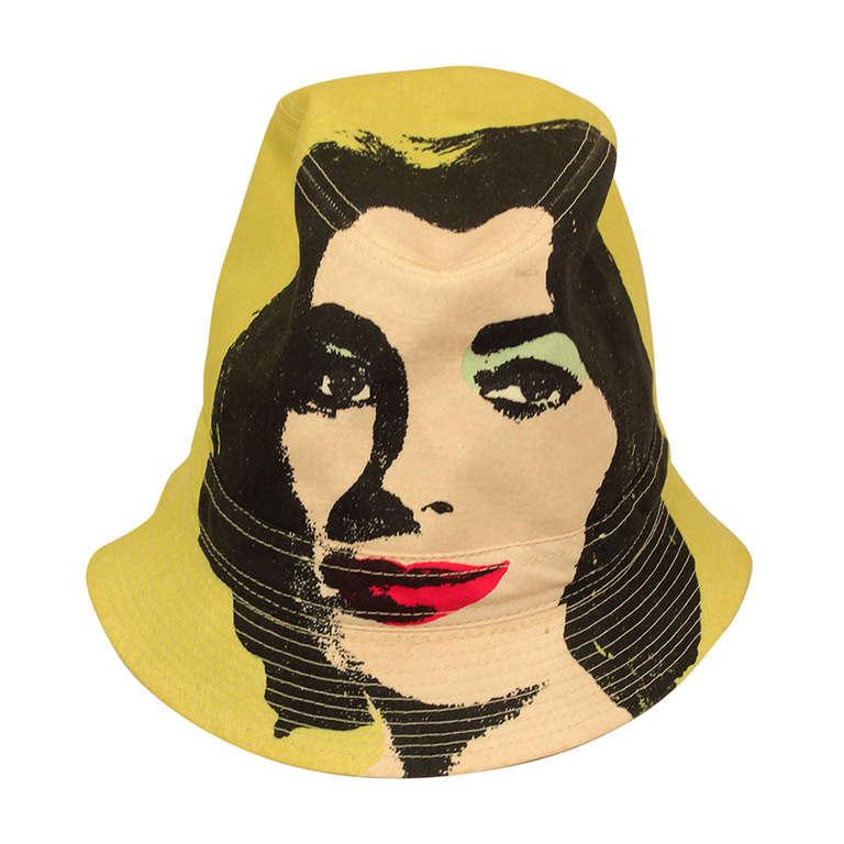 Philip Treacy/Andy Warhol Collection U0027Elizabeth Tayloru0027 Portrait Bucket Hat  ...