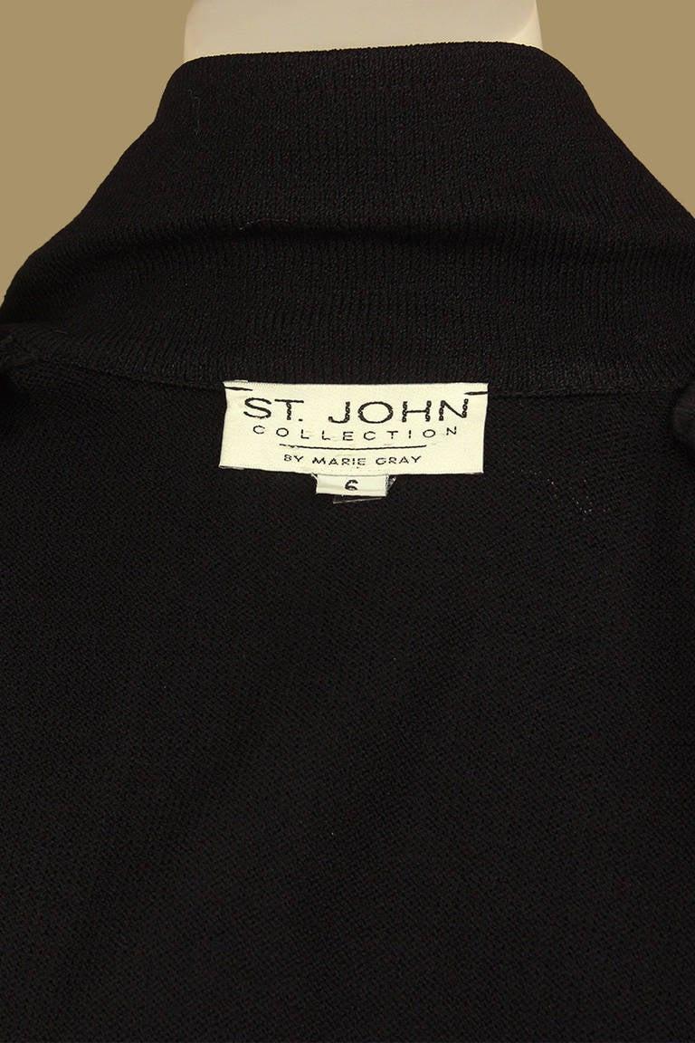 Women's St. John Equestrian Style Knit Jacket For Sale