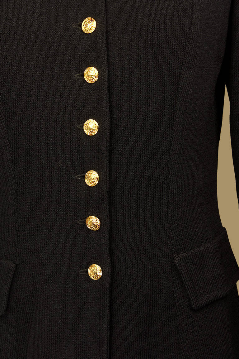 St. John Equestrian Style Knit Jacket In Excellent Condition For Sale In New York, NY