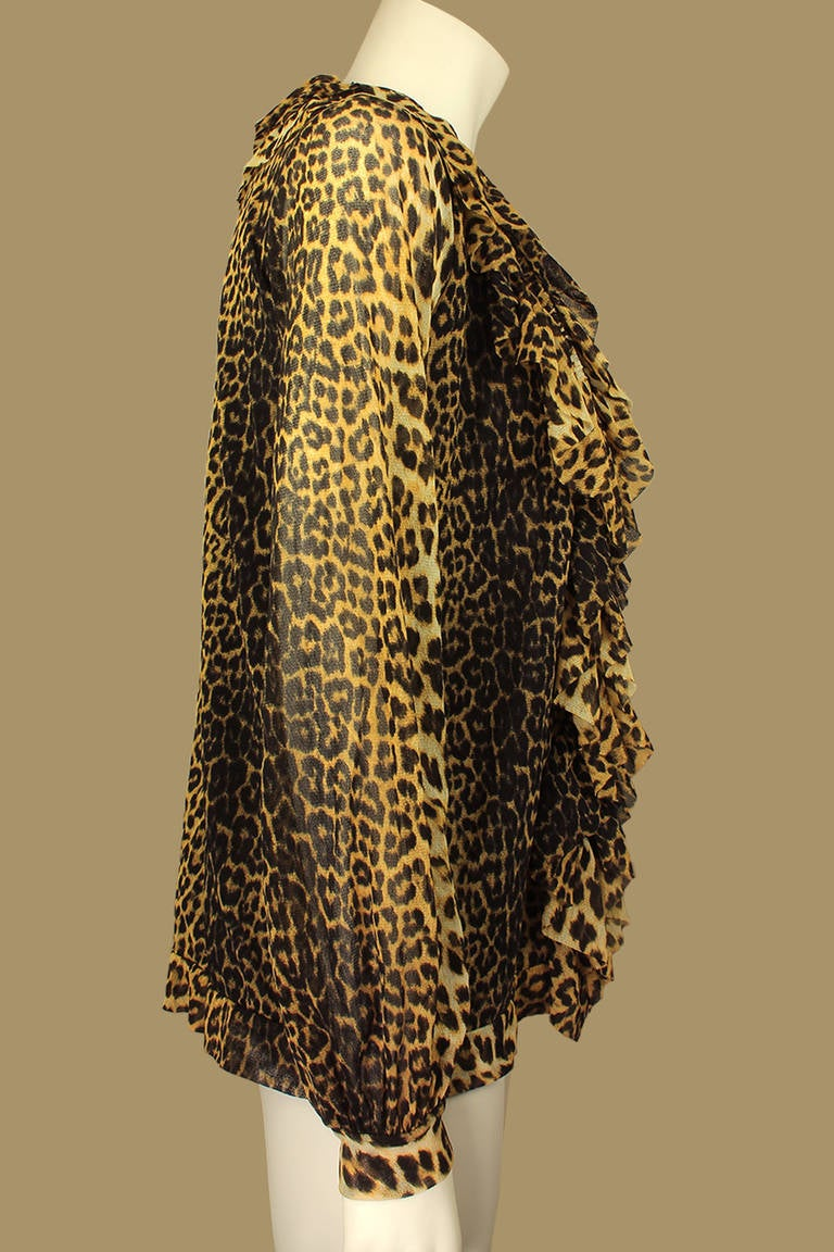 Sheer Cheetah Print Blouse 41