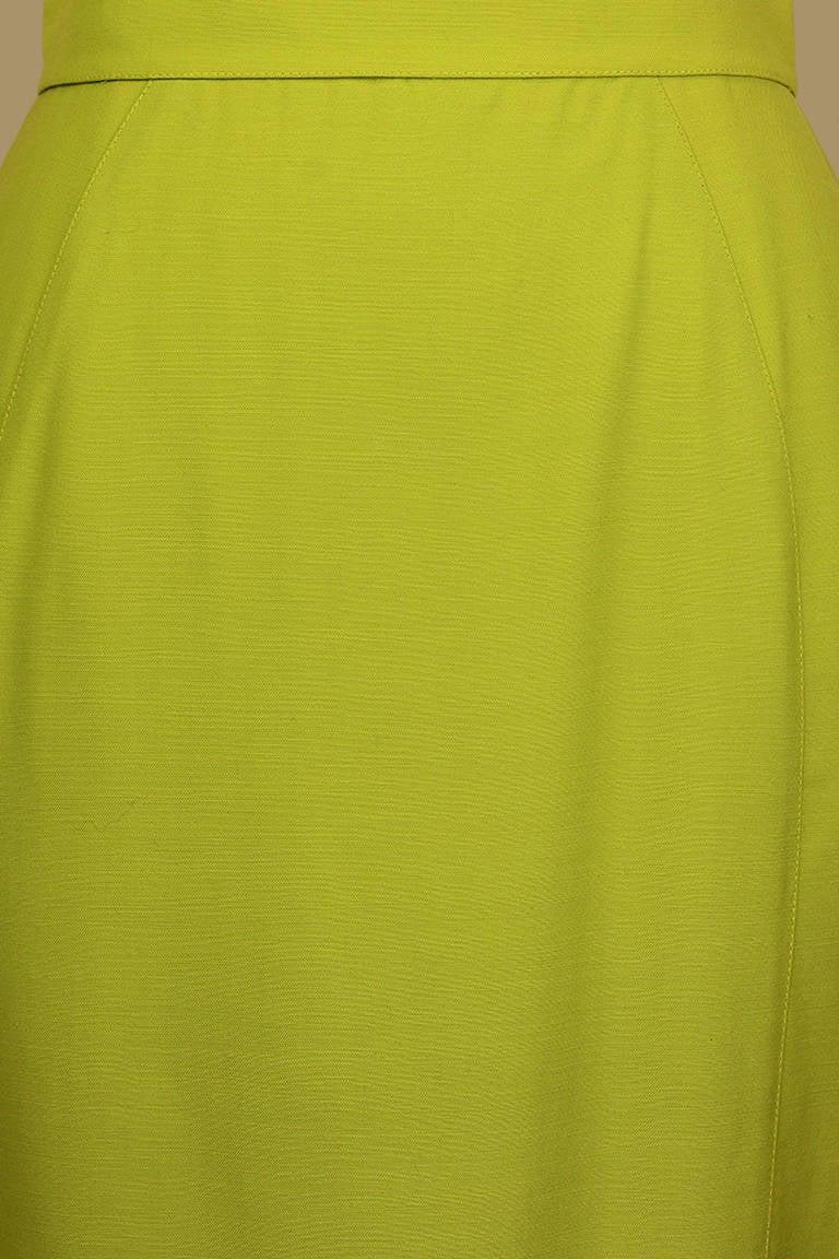 thierry mugler lime green pencil skirt at 1stdibs