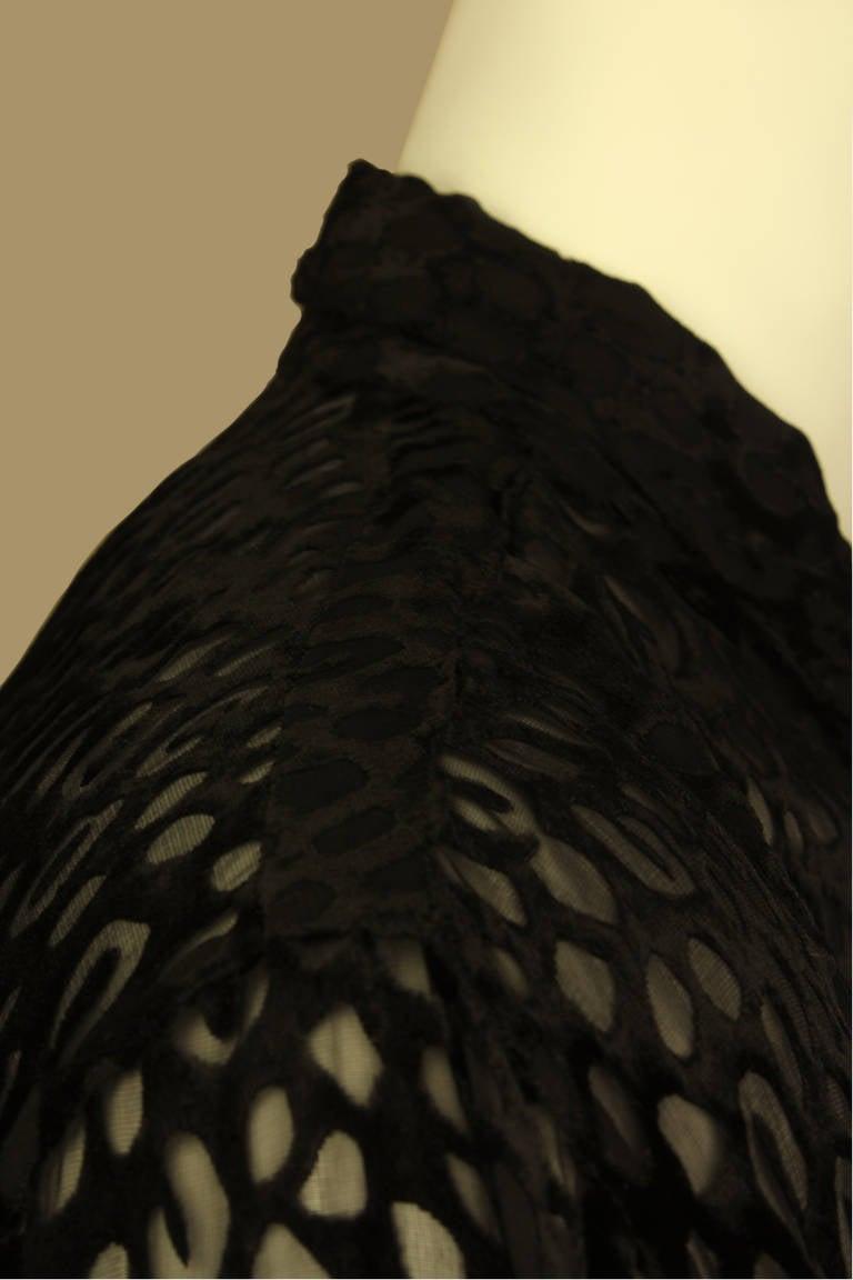 Gianni Versace Mens Sheer Velvet Leopard Print Shirt 5