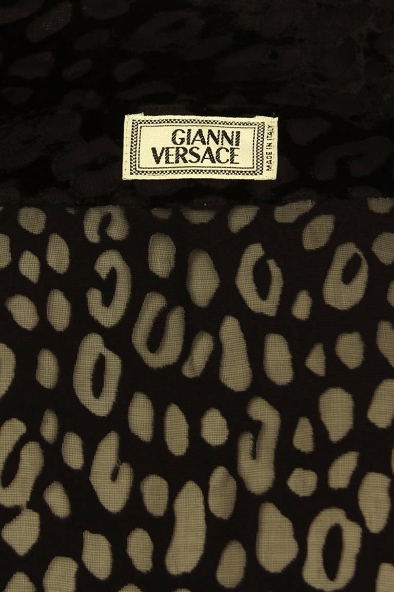 Gianni Versace Mens Sheer Velvet Leopard Print Shirt 7