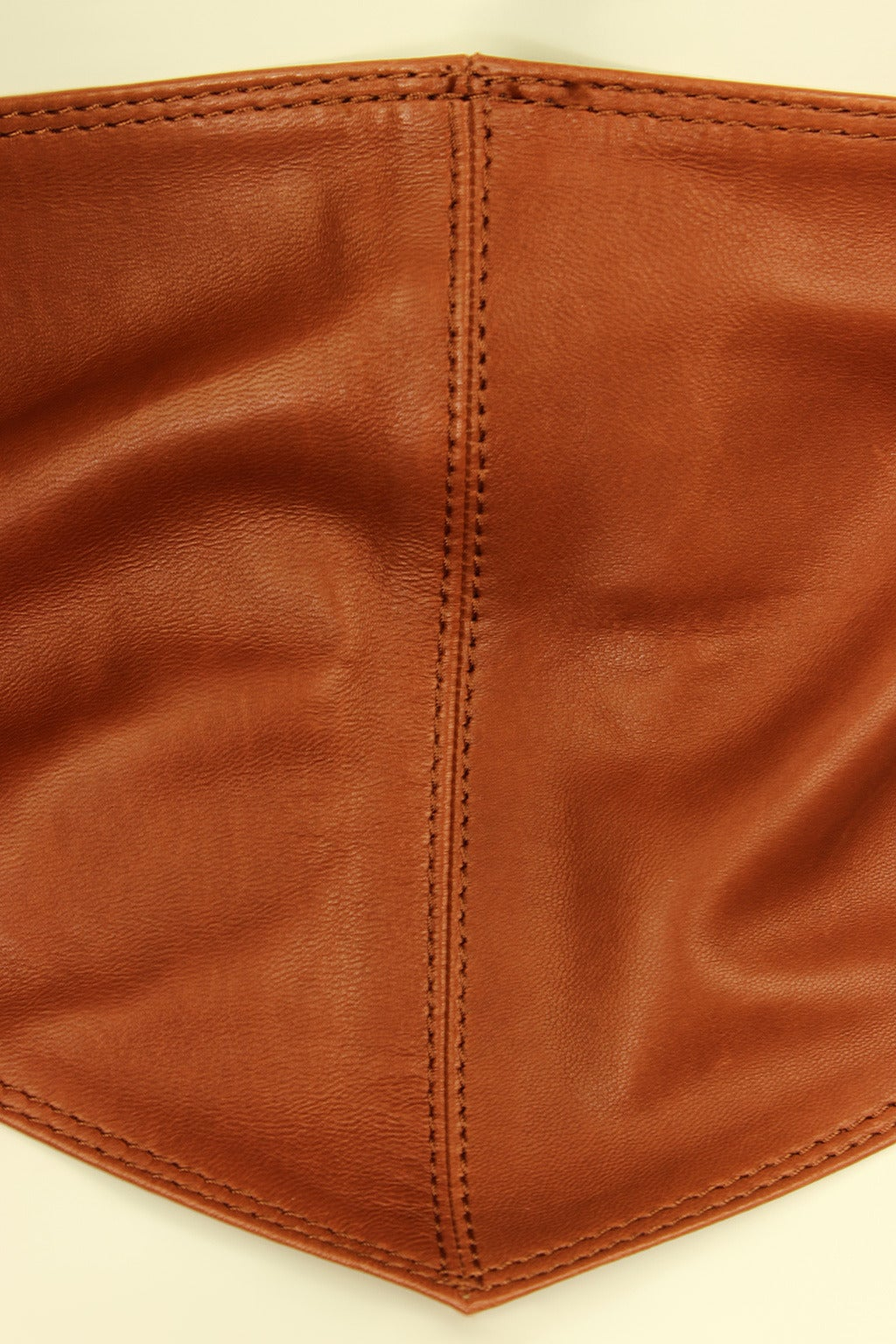 Calvin Klein 1980s Wide Leather Caramel Sash Belt 4