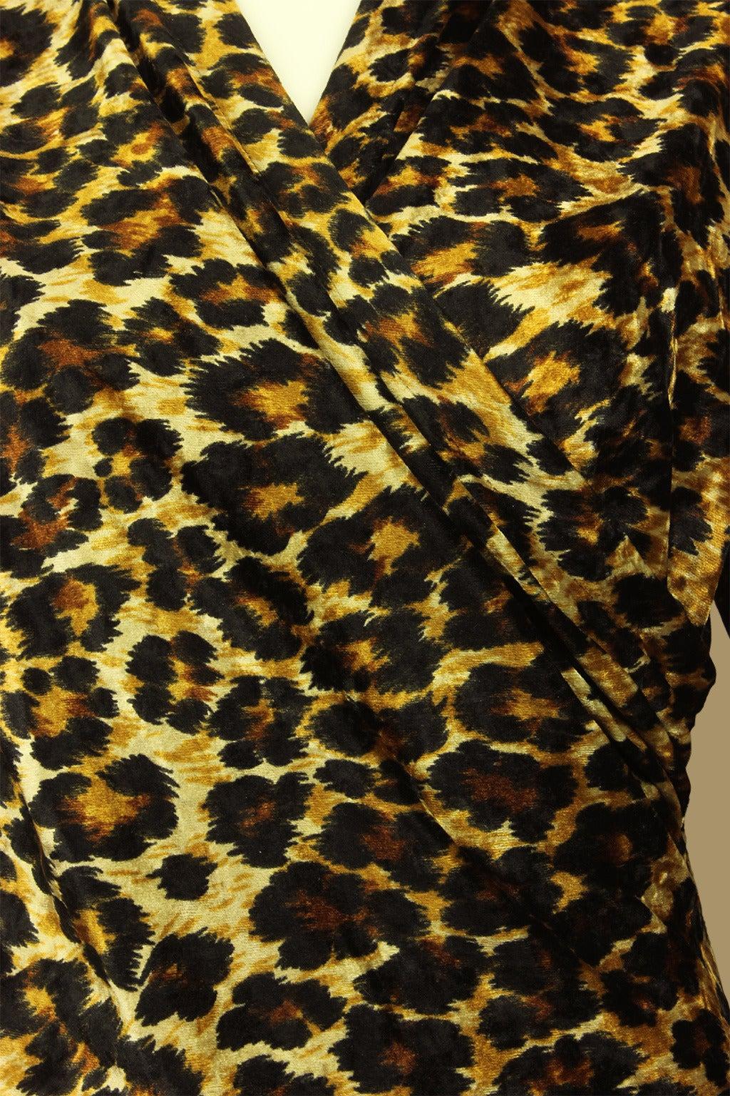 Patrick Kelly Leopard Print Wrap Dress 4