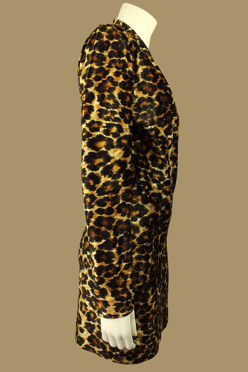 Patrick Kelly Leopard Print Wrap Dress 2