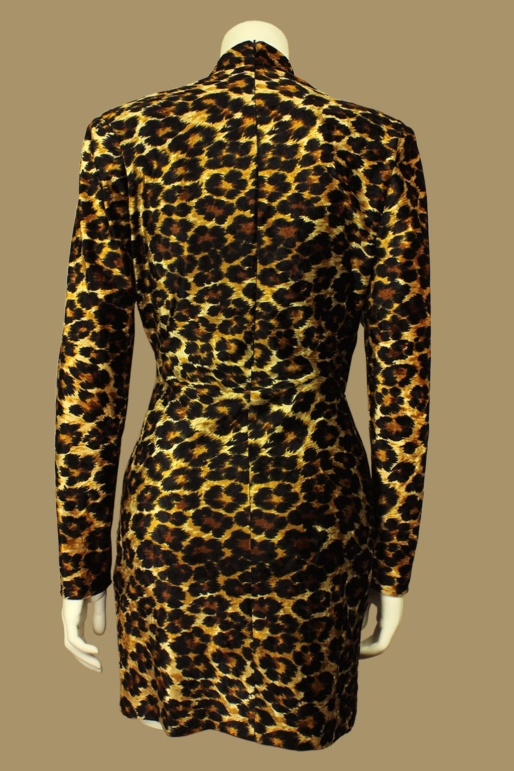 Patrick Kelly Leopard Print Wrap Dress 3