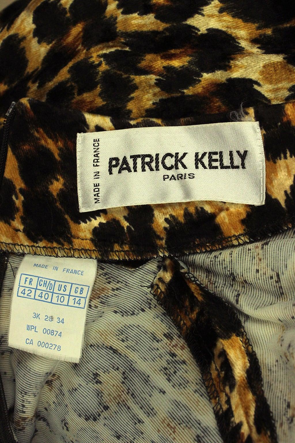 Patrick Kelly Leopard Print Wrap Dress 7