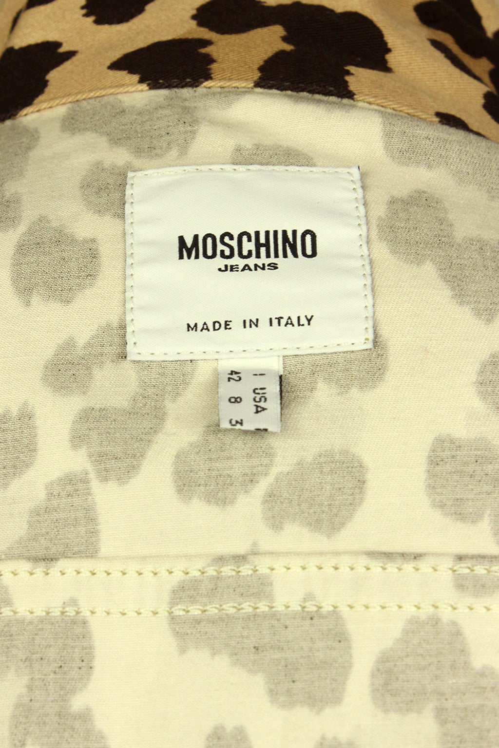 Moschino 1990s Cheetah Print Cropped Western Style Jacket 7