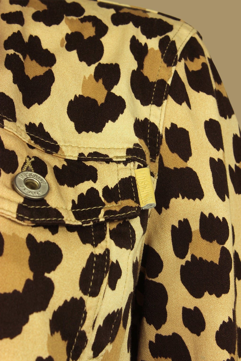 Moschino 1990s Cheetah Print Cropped Western Style Jacket 4
