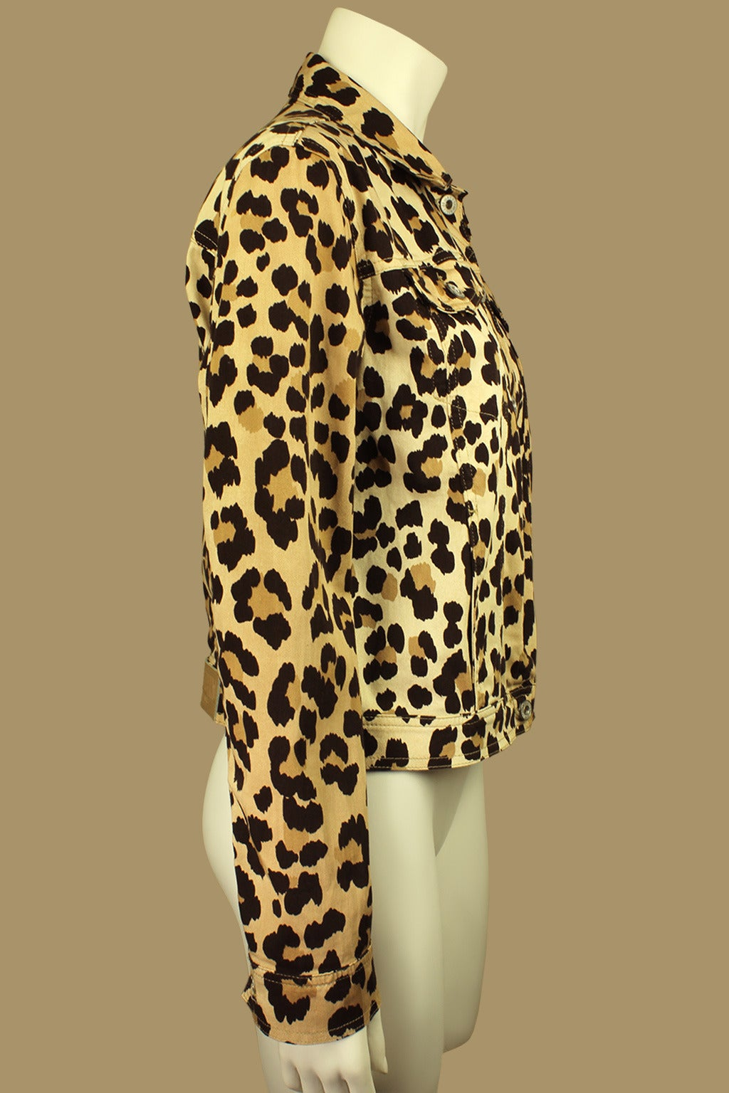 Moschino 1990s Cheetah Print Cropped Western Style Jacket 2