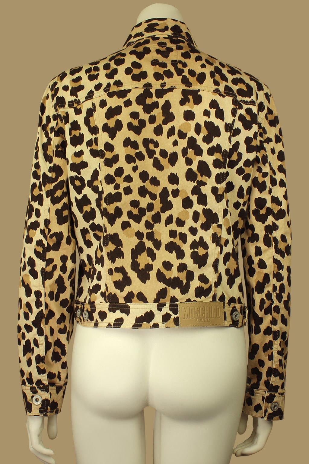 Moschino 1990s Cheetah Print Cropped Western Style Jacket 3