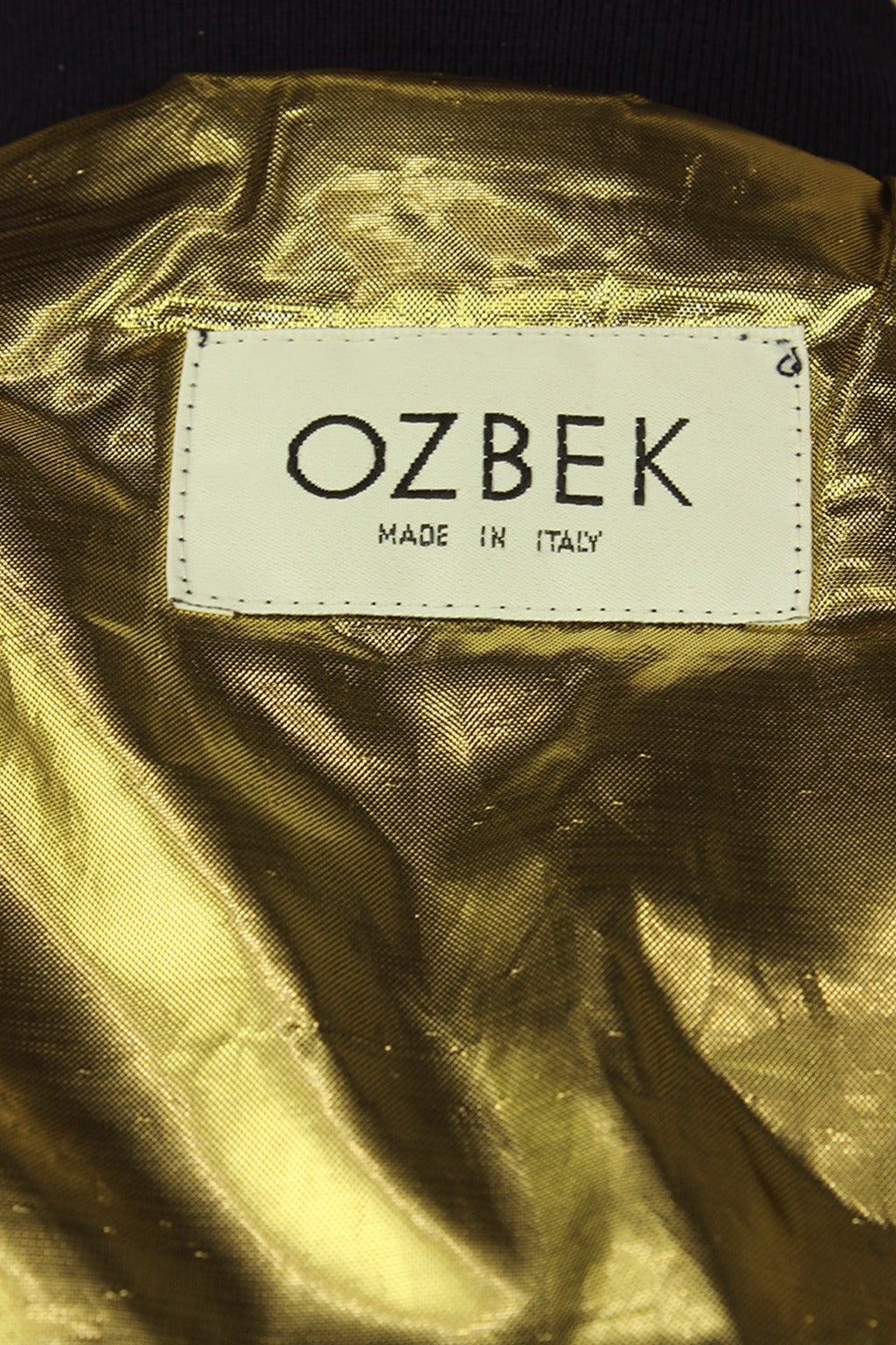 Ozbek 1990s Bomber Jacket With Gold Embroidered Wings At