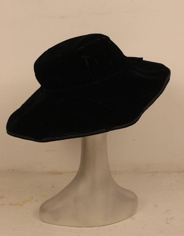 Edwardian Velvet Hat H.C.F. Koch and Company 4