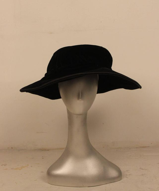 Edwardian Velvet Hat H.C.F. Koch and Company 2