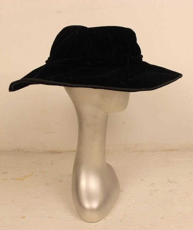 Edwardian Velvet Hat H.C.F. Koch and Company 3