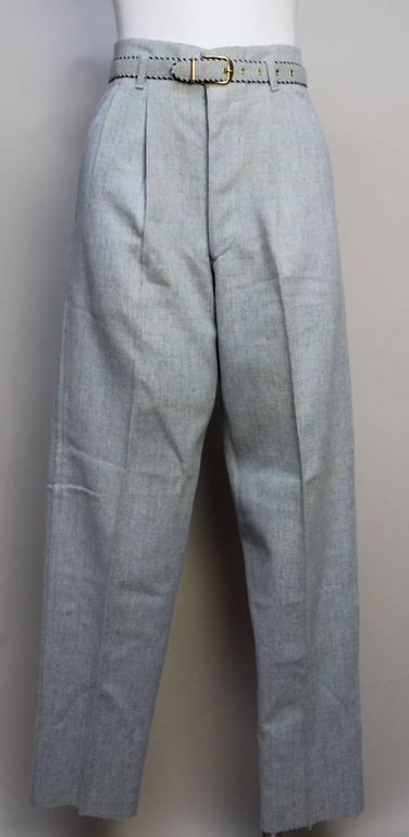 1950's Deadstock Rockabilly Flecked Wool Pant with Matching Belt 2