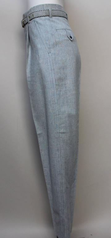 1950's Deadstock Rockabilly Flecked Wool Pant with Matching Belt 4