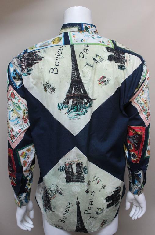 Paul Smith Shirt with Vibrant Souvenir Scarf Print 4