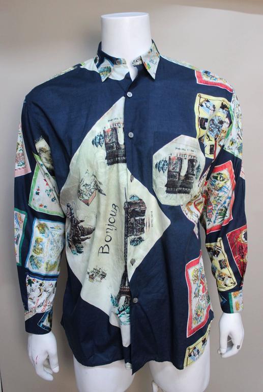 Paul Smith Shirt with Vibrant Souvenir Scarf Print 2
