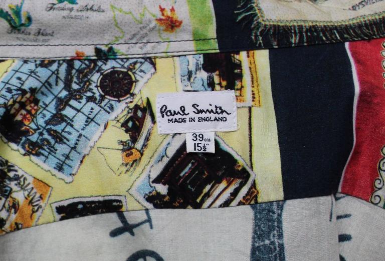 Paul Smith Shirt with Vibrant Souvenir Scarf Print 6