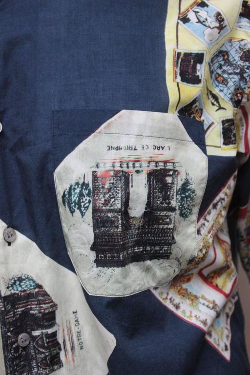 Paul Smith Shirt with Vibrant Souvenir Scarf Print 5