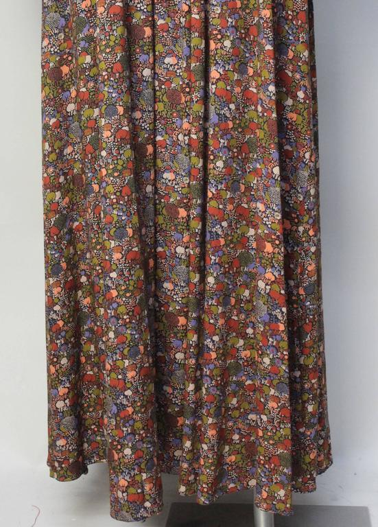 1970s John Charles Cotton Floral Folkloric Maxi Dress 9