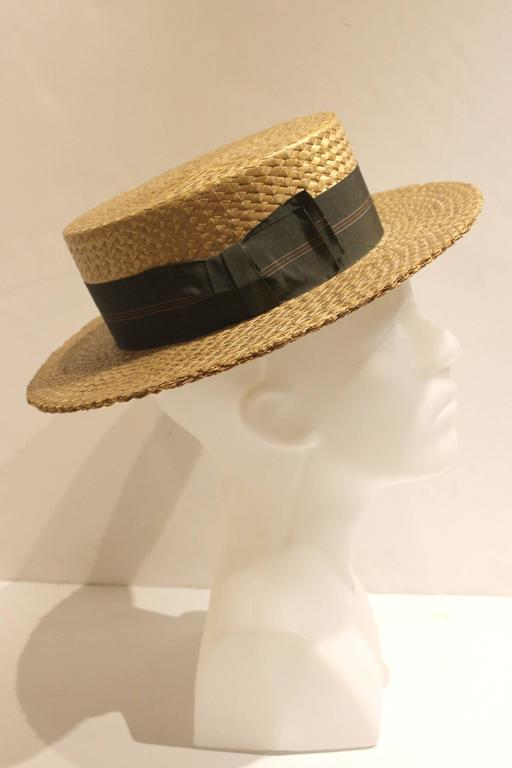 mens rare 1930s stetson boater hat at 1stdibs