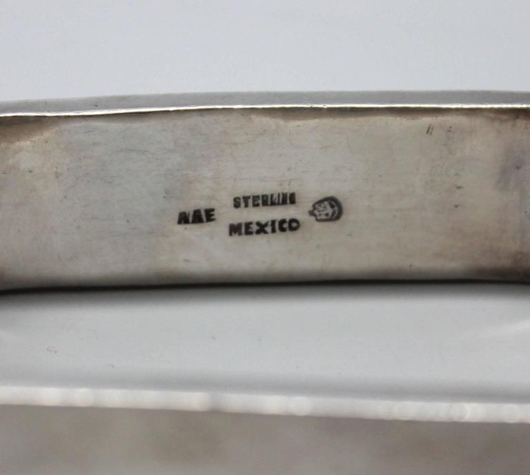 1960s Modernist Sterling Rectangle Bracelet For Sale 4