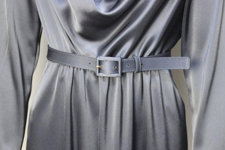 St. John Elegant Pewter Grey Dress For Sale 2