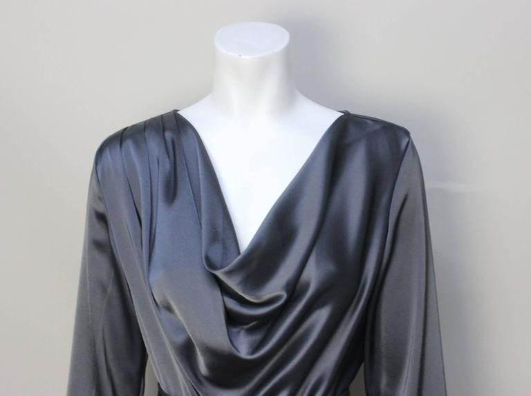 Women's St. John Elegant Pewter Grey Dress For Sale