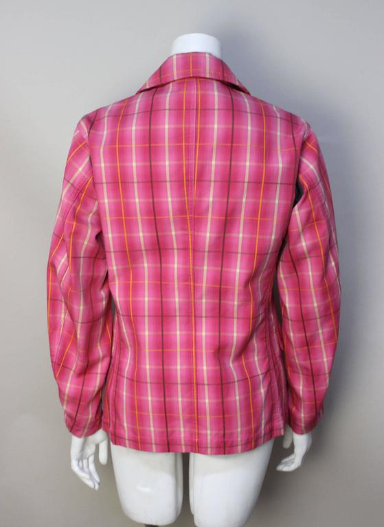 Women's or Men's Comme Des Garcons Homme Plus Pink Plaid Jacket For Sale