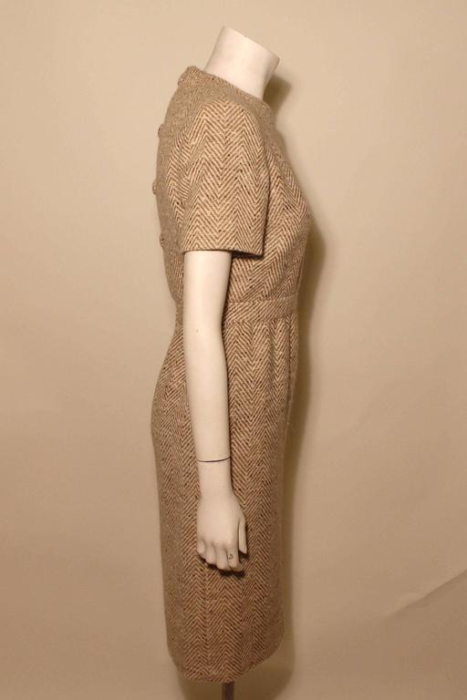 Vintage Pauline Trigere Wool Tweed Dress 4