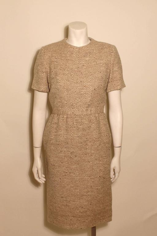 Vintage Pauline Trigere Wool Tweed Dress 2