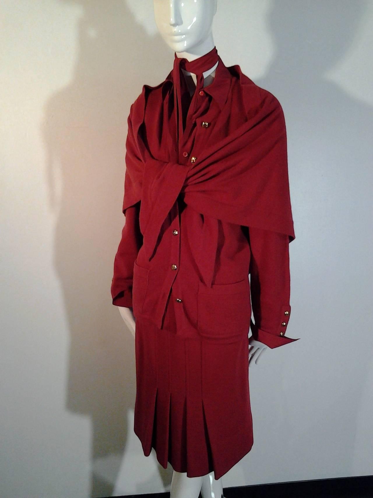 1980s Chanel 5-Piece Cashmere Classic Cardigan Set 2