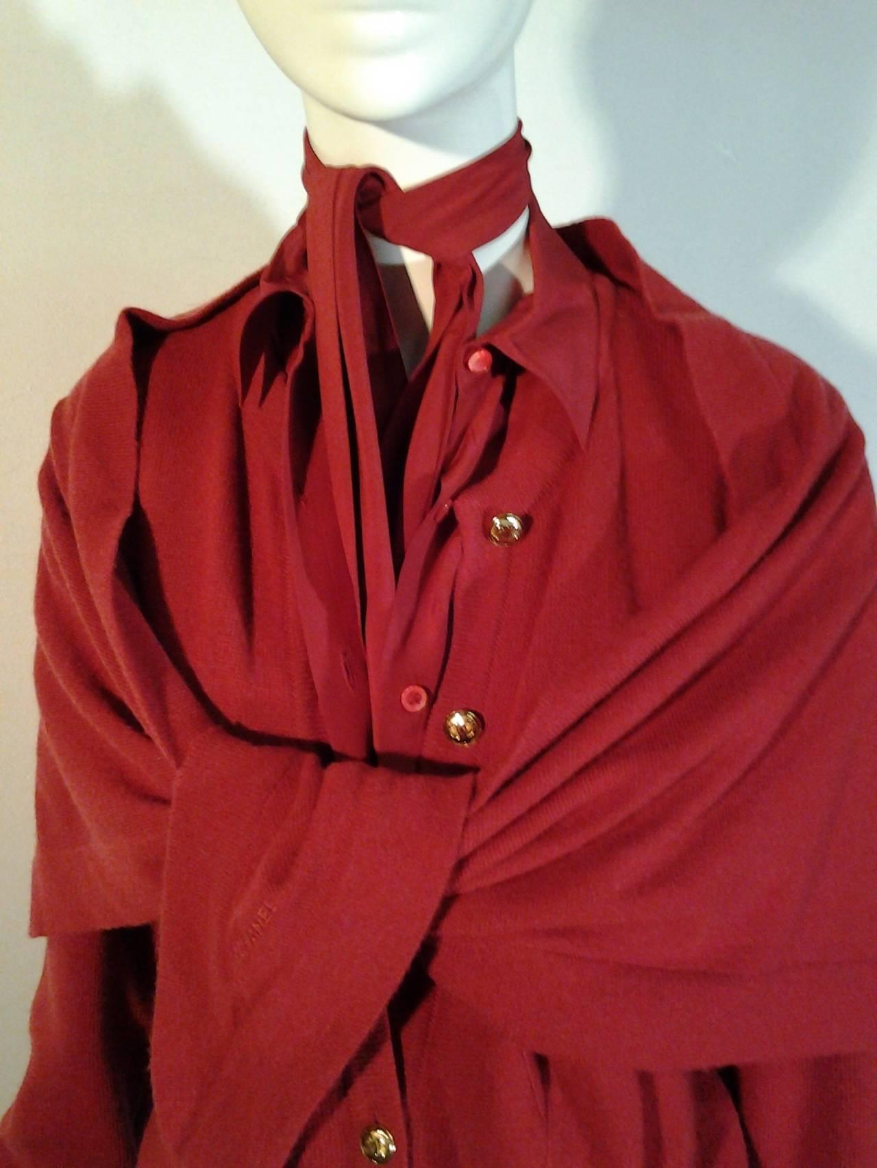 1980s Chanel 5-Piece Cashmere Classic Cardigan Set 6