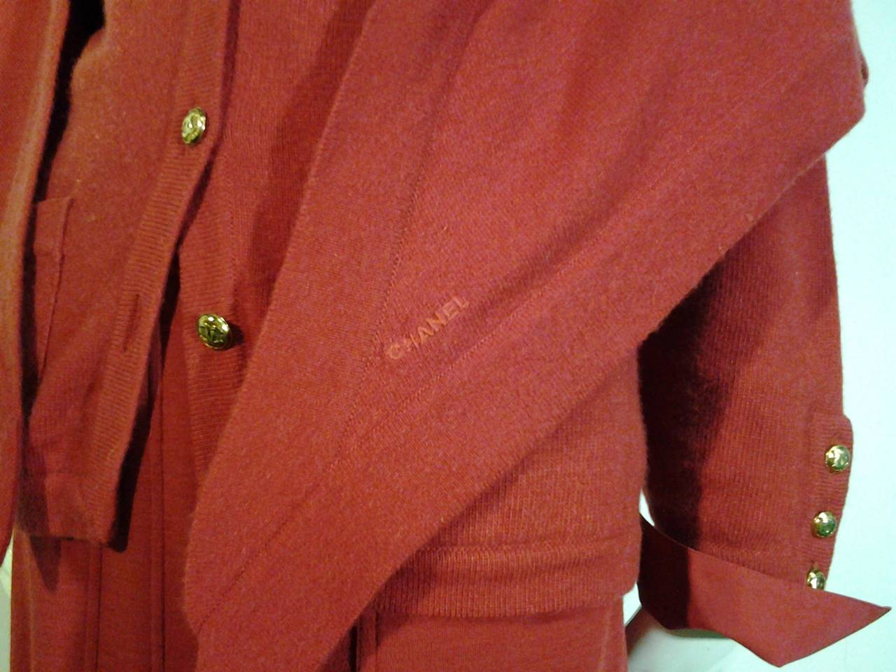 1980s Chanel 5-Piece Cashmere Classic Cardigan Set 7