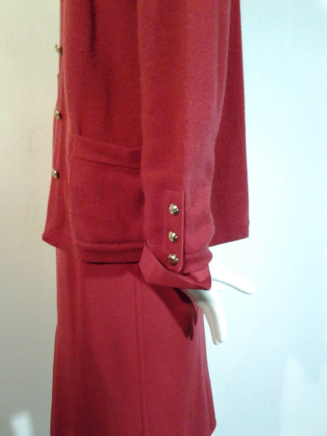 1980s Chanel 5-Piece Cashmere Classic Cardigan Set 9