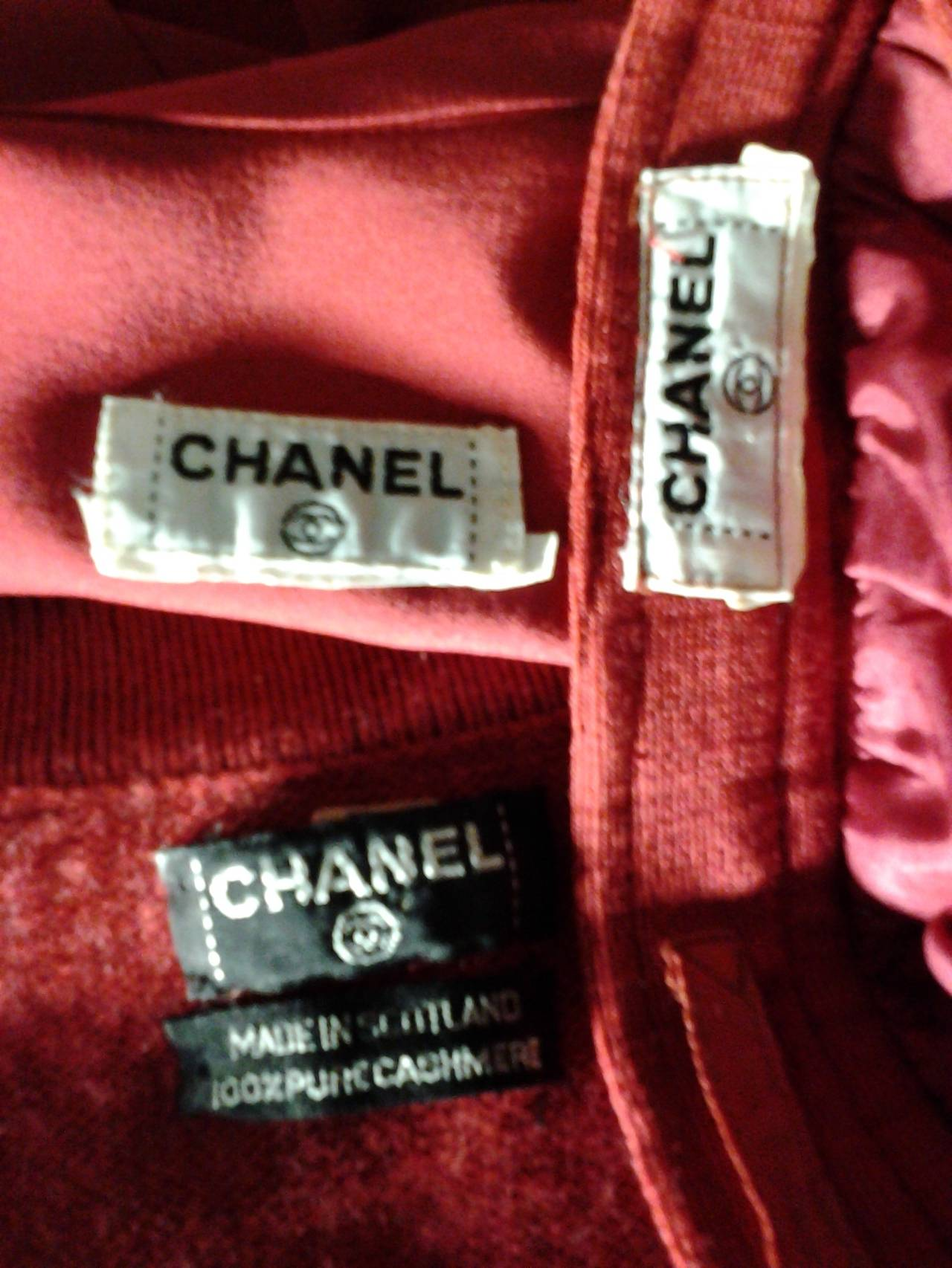 1980s Chanel 5-Piece Cashmere Classic Cardigan Set 10