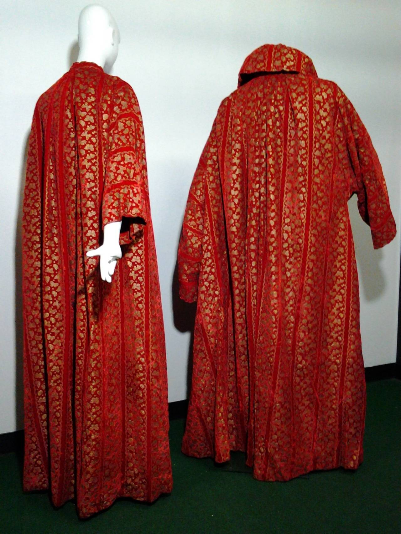 A Pair of 1958 Pierre Cardin Couture Robes for Paris Bal D'Hiver 2