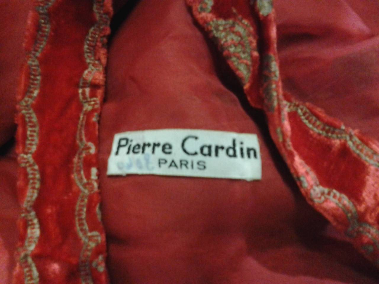 A Pair of 1958 Pierre Cardin Couture Robes for Paris Bal D'Hiver 5