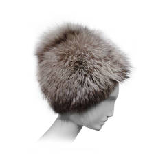 "1960s Irene of New York ""Beehive"" Style Fox Fur Hat"