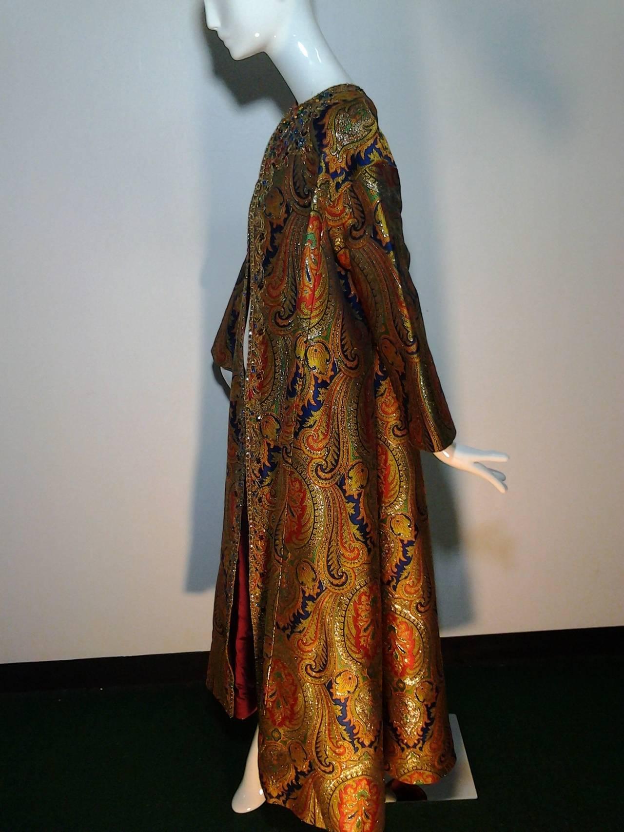 1960s nina ricci haute couture silk paisley brocade opera for 1960 s haute couture