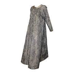 1980s Geoffrey Beene Silk Chiné Warp-Printed Taffeta Tent Dress