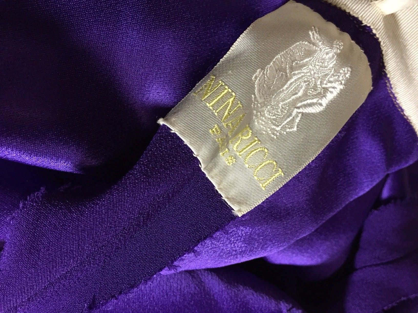 1960s Haute Couture Nina Ricci Paisley Silk Chiffon Gown w/ Turban 10