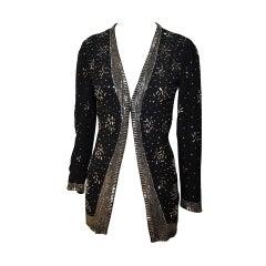 1960s Pauline Trigere Rhinestone Studded Evening Jacket