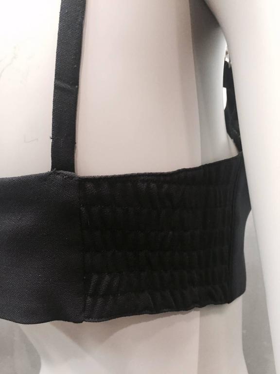 1990s Escada Navy Wool Gabardine Bra Top For Sale 1