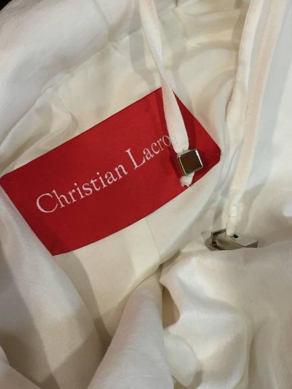 "1980s Christian Lacroix Avant Garde White Canvas ""Butterfly"" Parka 7"
