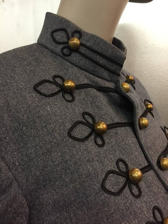 1950's Slate and Black Wool Military Band Jacket  5